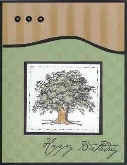 Lovely as a Tree card by Beate Johns
