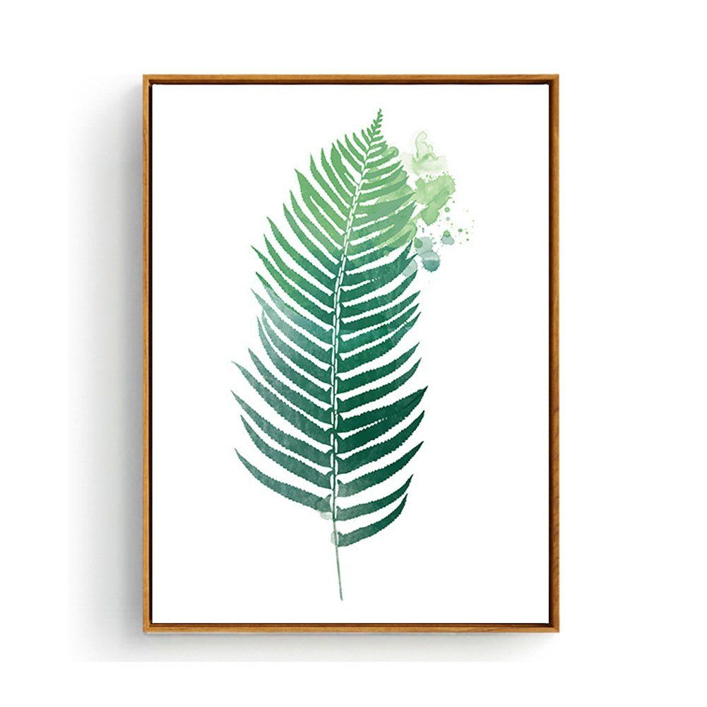 Hepix tropical palm leaves canvas wall art for