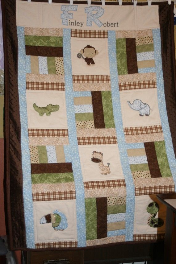 Finley Robert's favorite jungle friends. | Quilting with love ... : jungle theme baby quilt patterns - Adamdwight.com