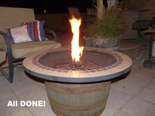 DIY Fire Pit | 21 Ways to Reuse A Barrel On Your Homestead | Awesome DIY Projects for your Home by Pioneer Settler at http://pioneersettler.com/wine-barrel-ideas/