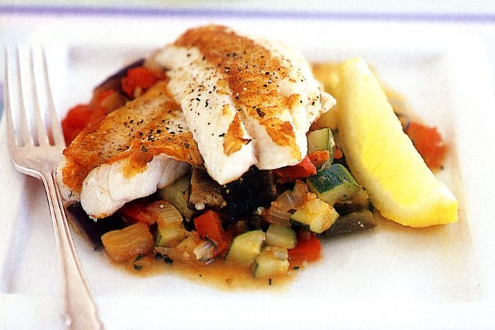 Fish with summer vegetables