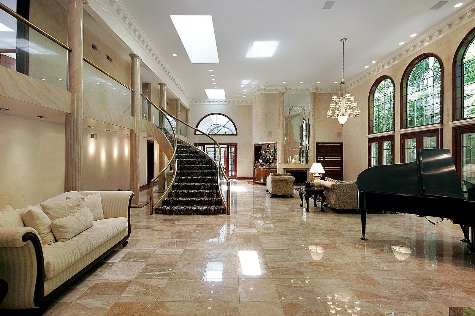 Roman Interiors With Italian Marble Flooring In Interior Marble     Roman Interiors With Italian Marble Flooring In Interior Marble Flooring  Interior Marble Floors Pros And Cons