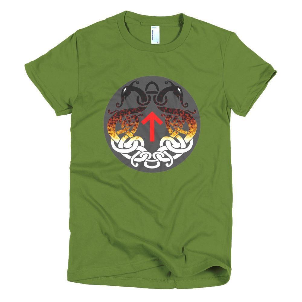 Tiwaz Rune and Serpent (Short sleeve women's t-shirt)