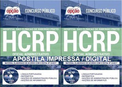 Apostila Hc Ribeirao Preto 2017 Oficial Administrativo Hcrp
