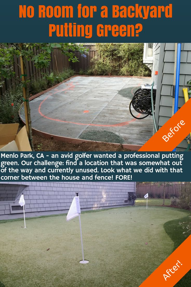 can u0027t spare the backyard space for your own putting green look