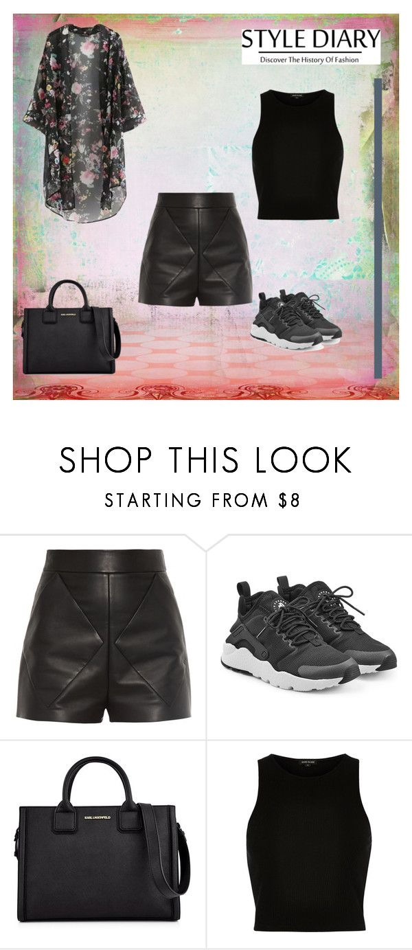 """Untitled"" by teszter0528 on Polyvore featuring Balenciaga, NIKE, Karl Lagerfeld and River Island"