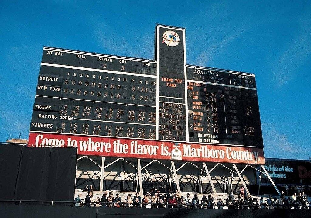 Old Yankee Stadium Scoreboard | Sports | Yankee stadium ...  Yankees