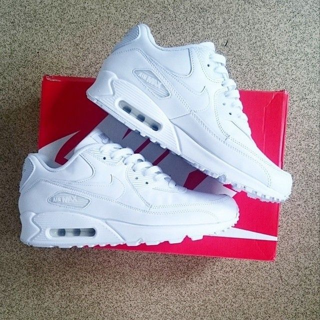 mens white nike air max 90 leather trainers