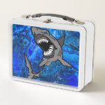 Who's ready for shark week? metal lunch box | Zazzle.com