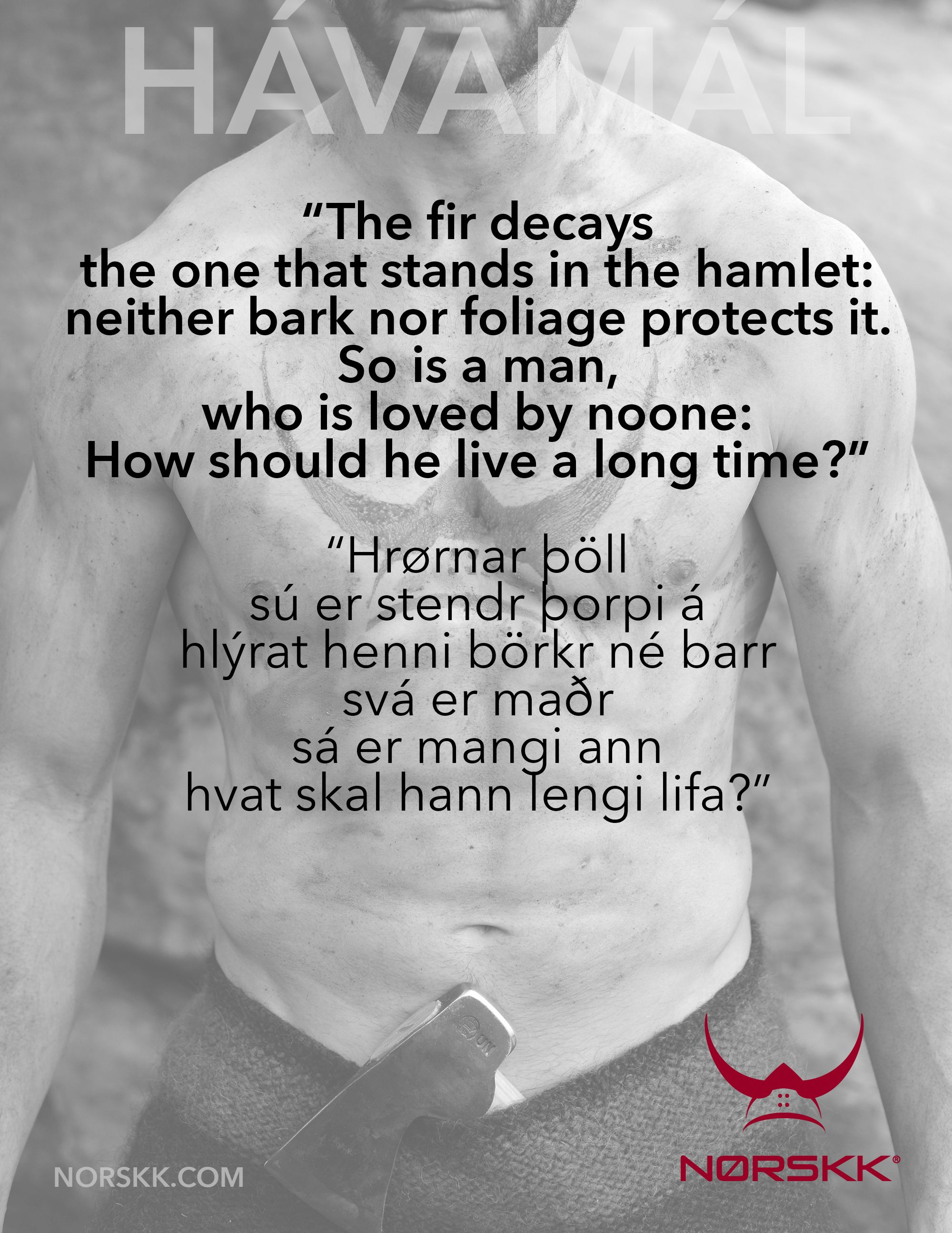 Chest tattoos for men quotes weekly hávamál havamal  being badass  pinterest  vikings