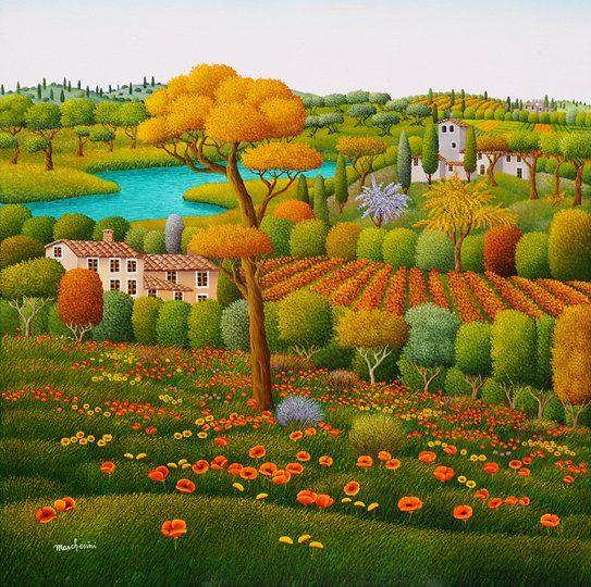 Marc Lesini - primavera in Toscana
