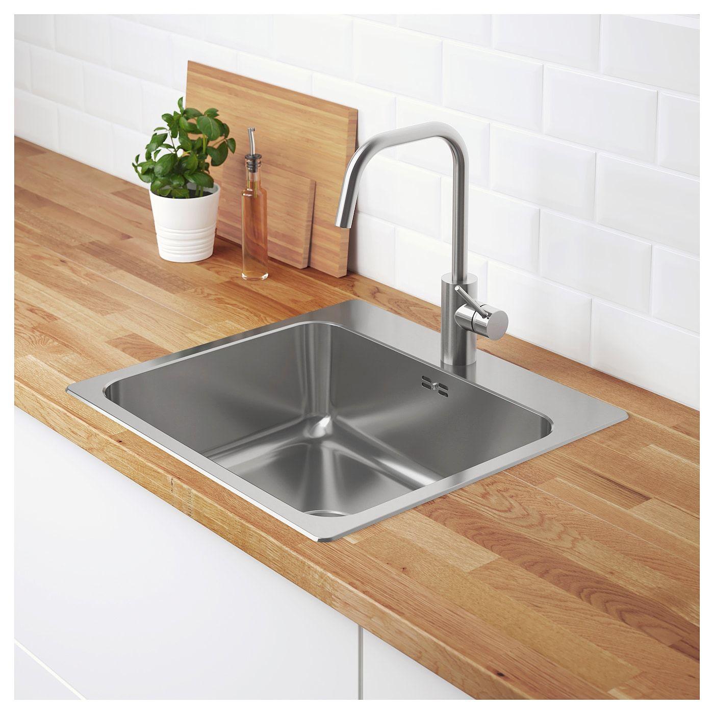 LÅNGUDDEN Einbauspüle, 20 Becken Edelstahl  Umbau kleiner küche