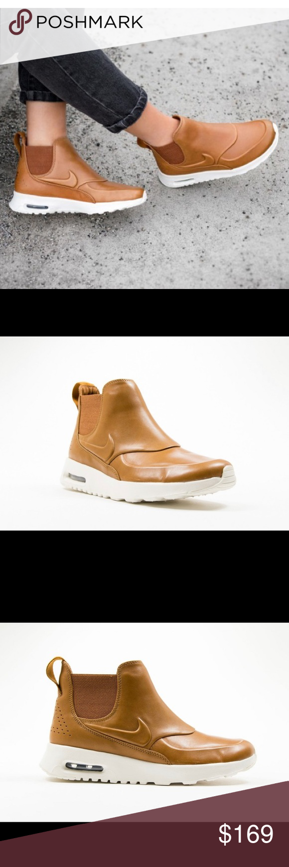 Nike Wmns Air Max Thea Mid Ale Brown | Brown nike shoes
