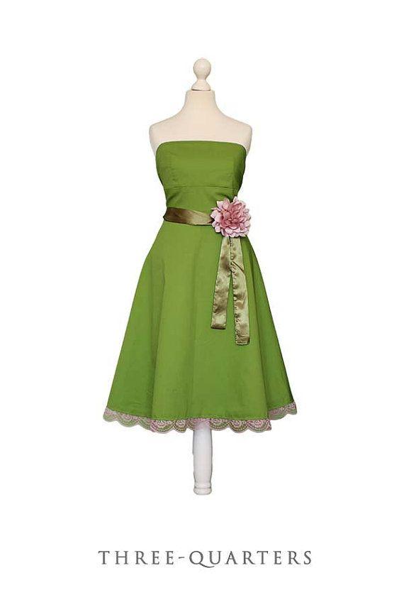 Light Olive Green Bridesmaid Dresses