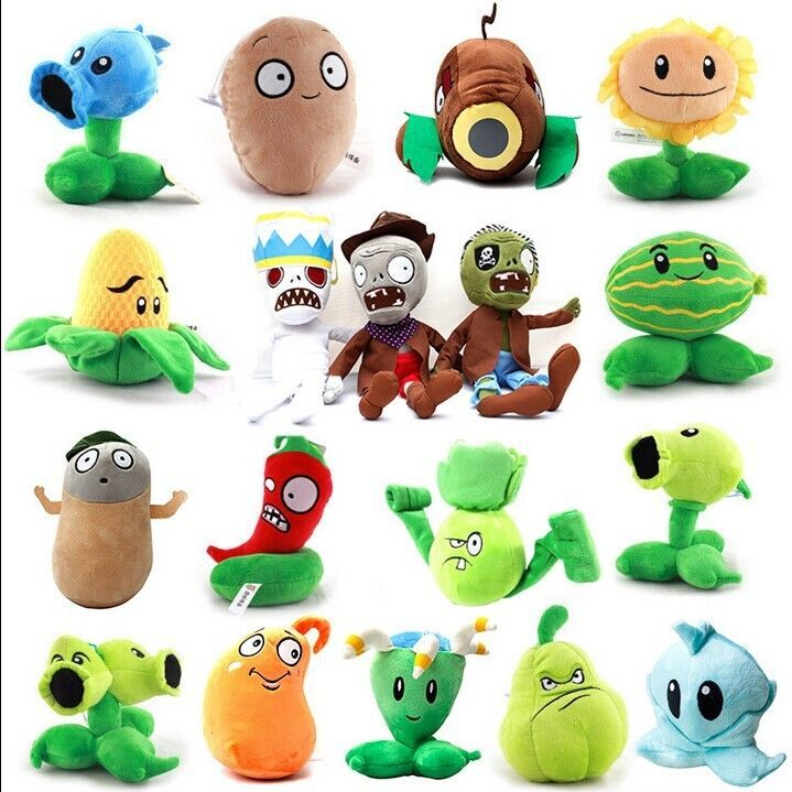 Plants vs Zombies 2 PVZ Figures Plush Baby Toy Christmas Stuffed Soft Doll Gift