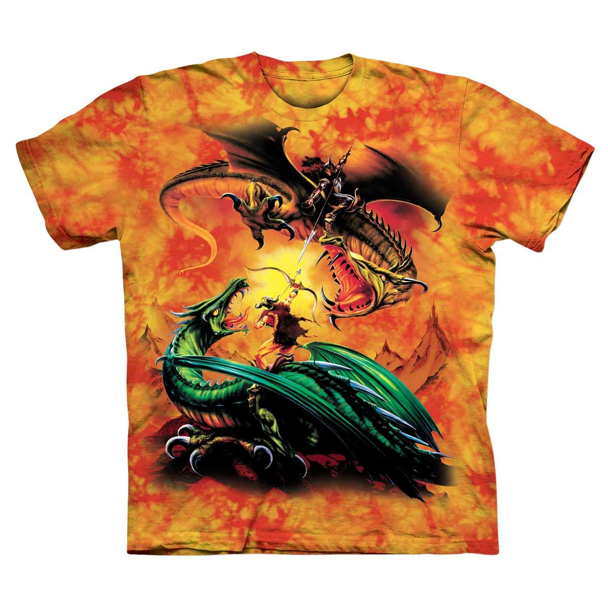 0378ff9f2063e8 Game of Thrones GOT Inspired Dragon Duel Adult T-shirt - CLEARANCE ...