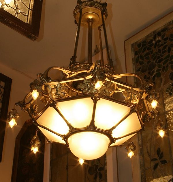 antique Tiffany lamps, Art Nouveau lamps and chandeliers, antique stained  and beveled glass - Antique Tiffany Lamps, Art Nouveau Lamps And Chandeliers, Antique