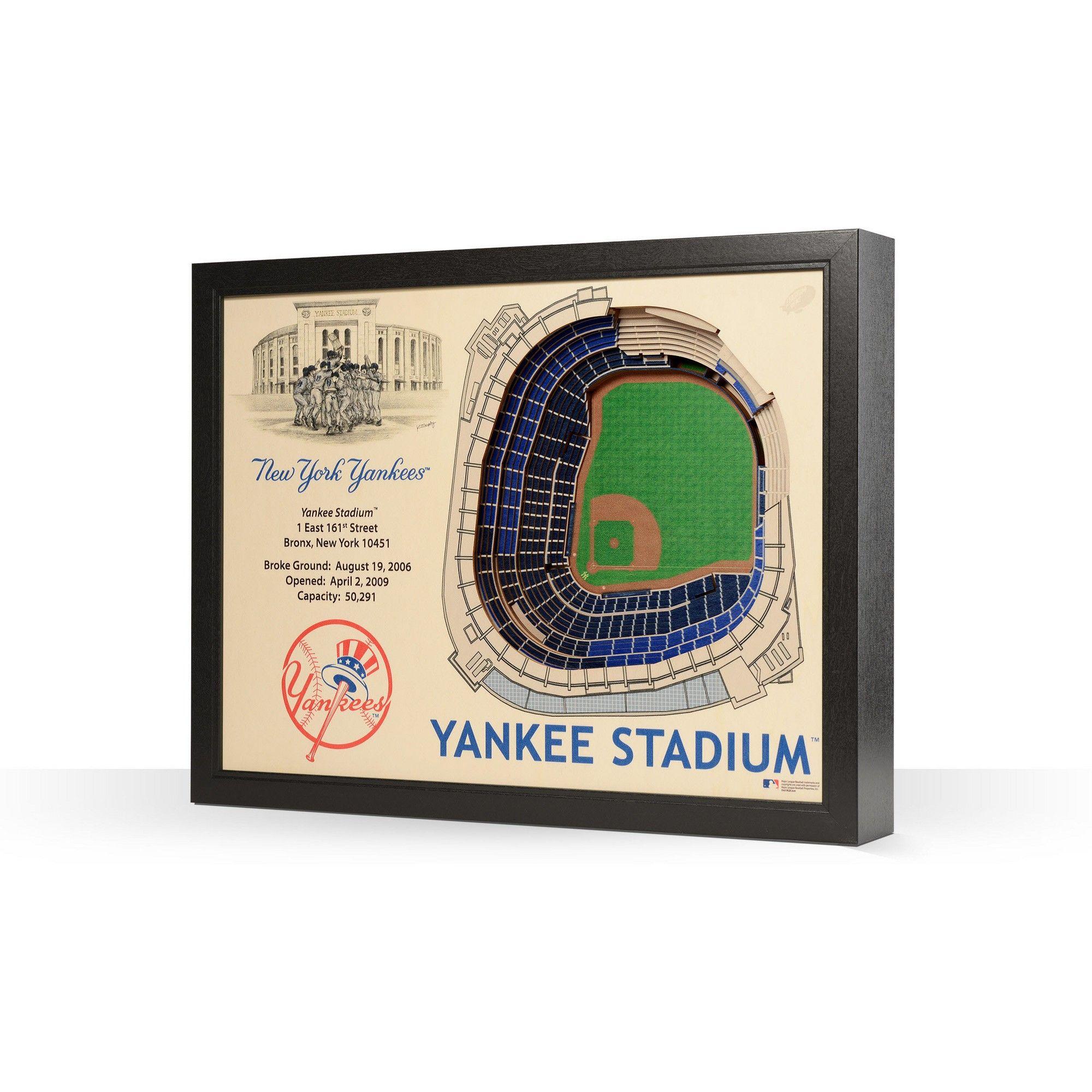 Mlb New York Yankees Stadium Views Wall Art Yankee Stadium Wooden Wall Art New York Yankees New York Yankees Stadium