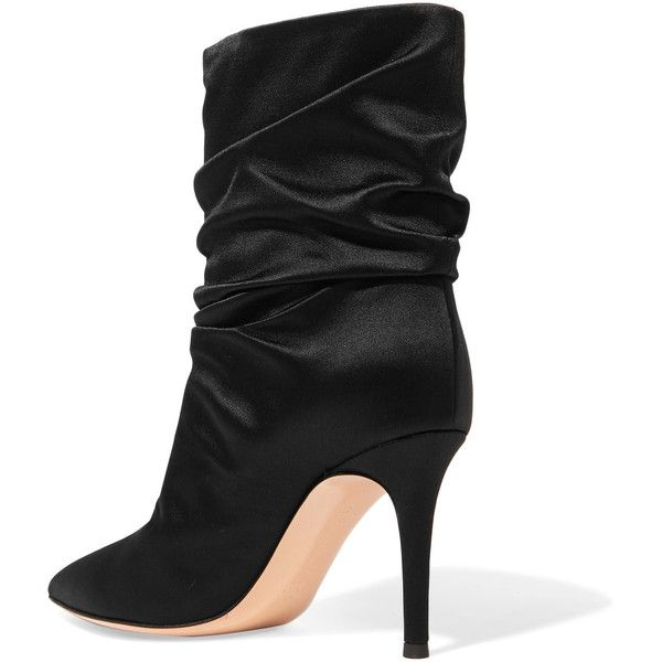 Gianvito Rossi Embellished satin ankle boots ndx6lj