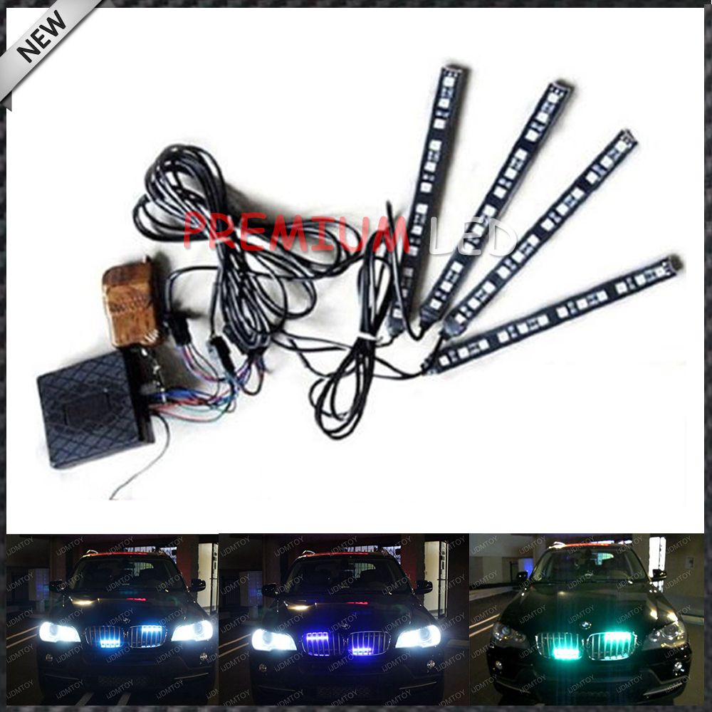 $24.99 (Buy here: http://appdeal.ru/5qt2 ) 4-piece 7 inches Multi-Color RGB LED Knight Rider Scanner Lighting Bar For Car Interior or Exterior Decoration for just $24.99