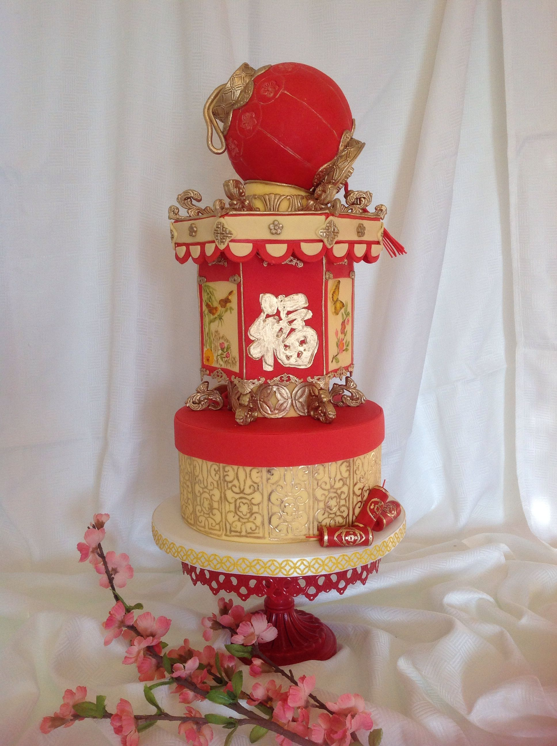 I made this cake for Chinese New Year 2014 Asian Themed