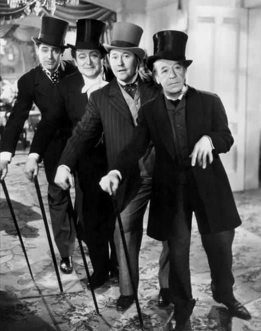 Cary Grant, Edward Arnold, Jack Oakie & Donald Meek The Toast of New York (1937)