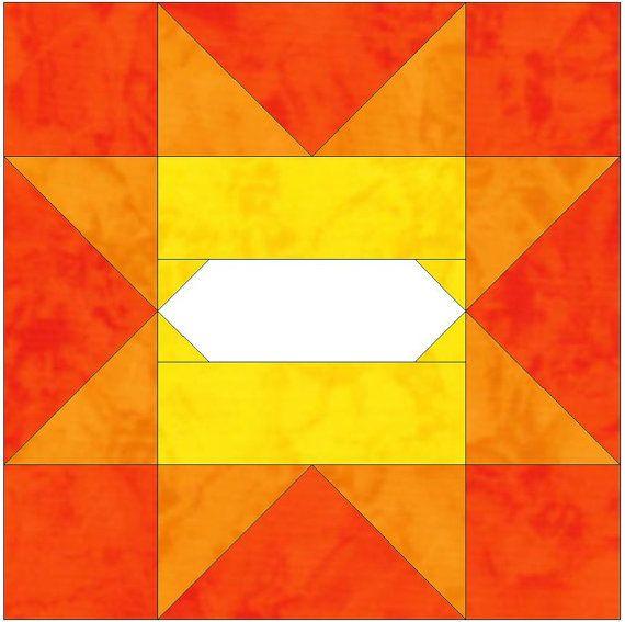 Album Variable Star 5 - 15 Inch Block Paper Template Quilting Block Pattern PDF