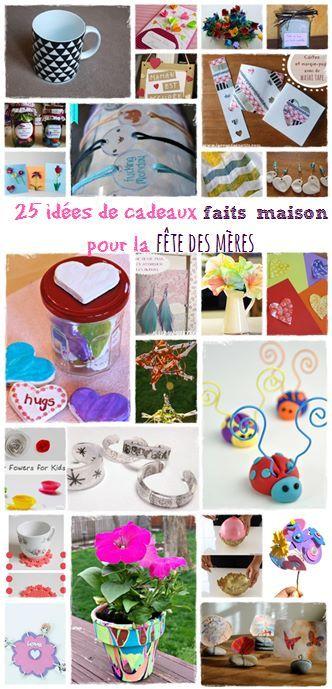 25 Idees De Cadeaux Faits Maison Pour La Fete Des Meres La Cour Des Petits Bricolage Fete Des Meres Cadeau Fait Maison Art De Noel