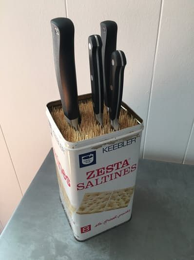 kitchen knife storage boos islands 3 clever solutions pinterest