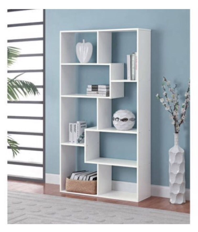 Modern Cube Bookcase With White Finish Cube Bookshelf Add