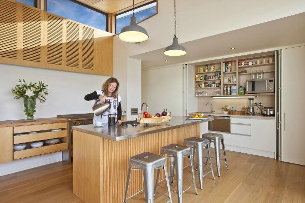 Stainless wood white architecture bureau ltd kitchen ideas