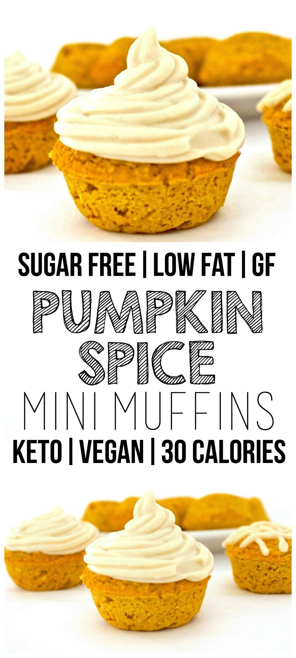 Pumpkin Spice Muffins Vegan Gluten Free Keto Sugar Free Recipe Low Calorie Muffins No Calorie Foods Vegan Pumpkin Recipes
