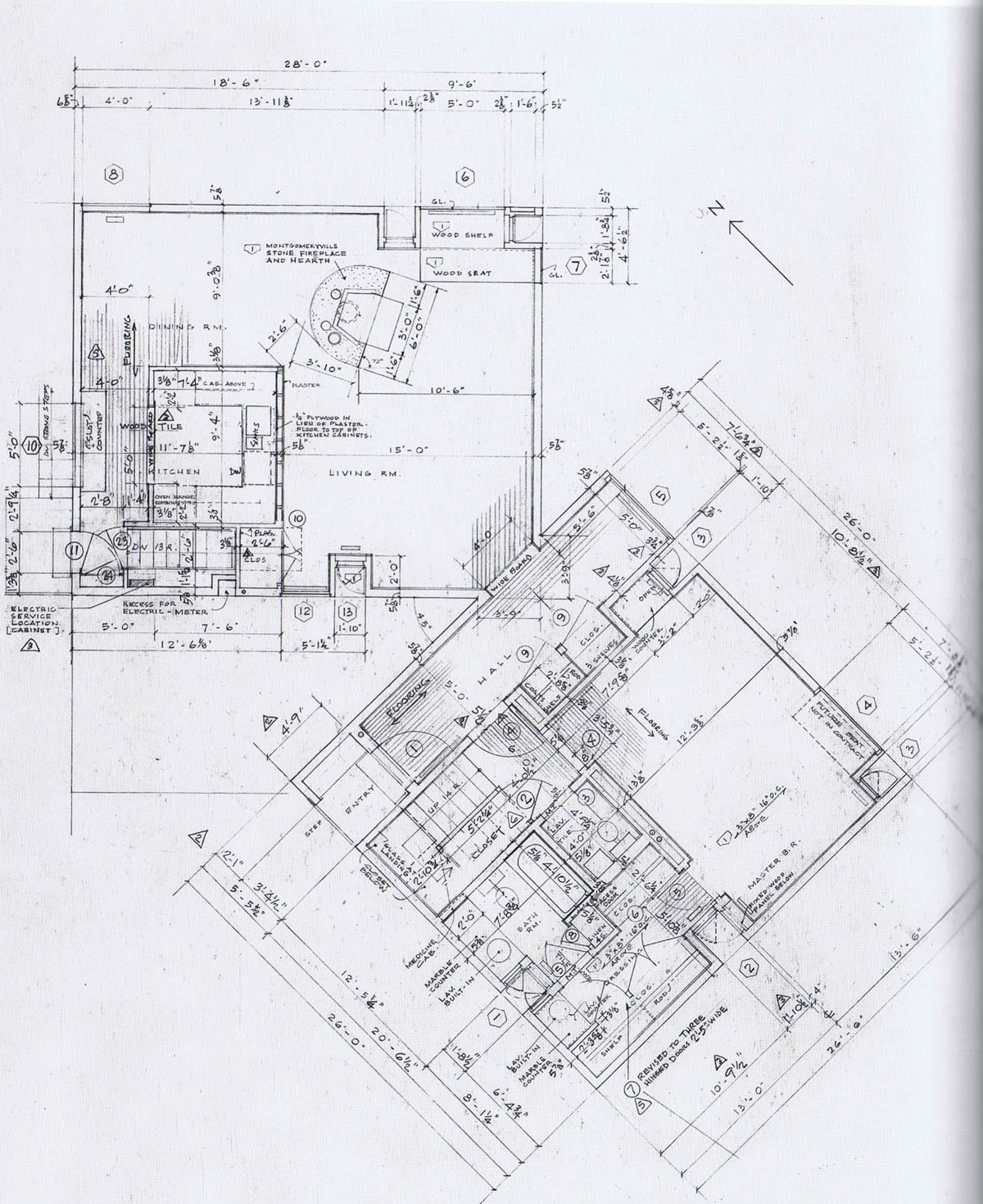 Louis kahn fisher house hic arquitectura houseplans for Property plans drawings