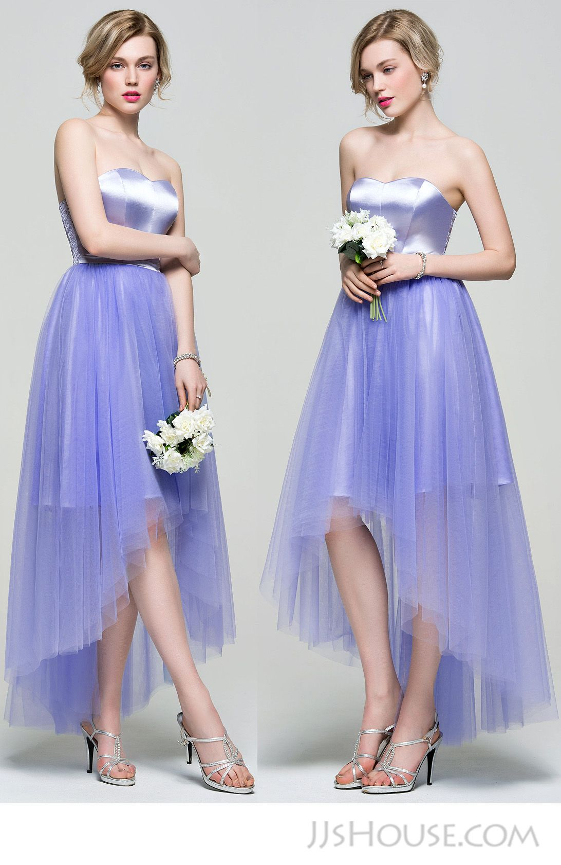 Asymmetrical bridesmaid dress. ##JJsHouse #JJsHouseBridesmaidDress ...