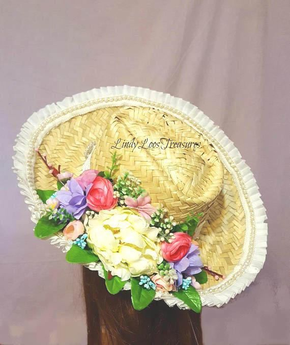 Wedding Hairstyle Nashville: Western Bride's Hat , OOAK, Bridal Hat, Cowgirl Hat