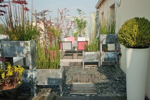 Dekoideen Terrasse deko ideen balkon terrasse blumenkübel pflanzen balkon