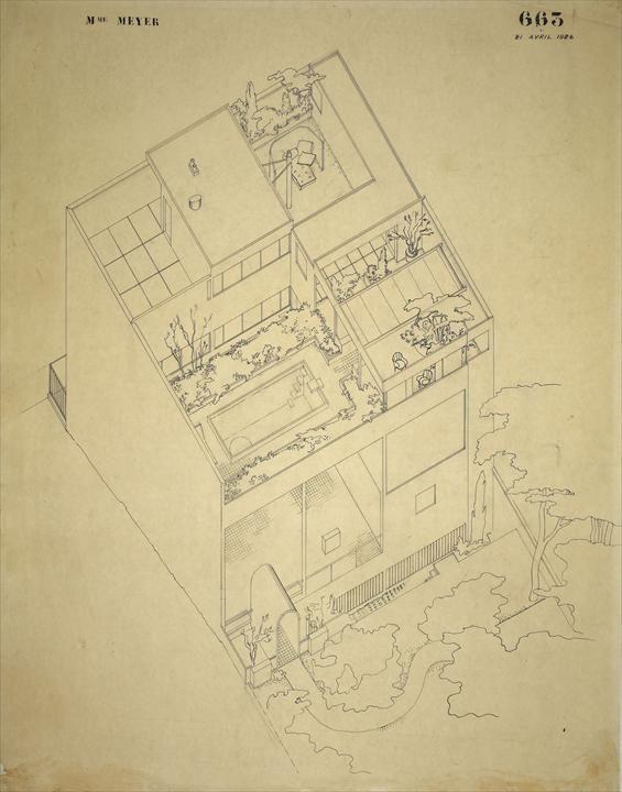 Villa Meyer Neuilly Sur Seine 1925 Boite Pure Et Parfaite Fenetres Homogenes A Chaque Etage Et Unitaire Entre Les Etages Maitre De Son Art In 2020 Plattegrond
