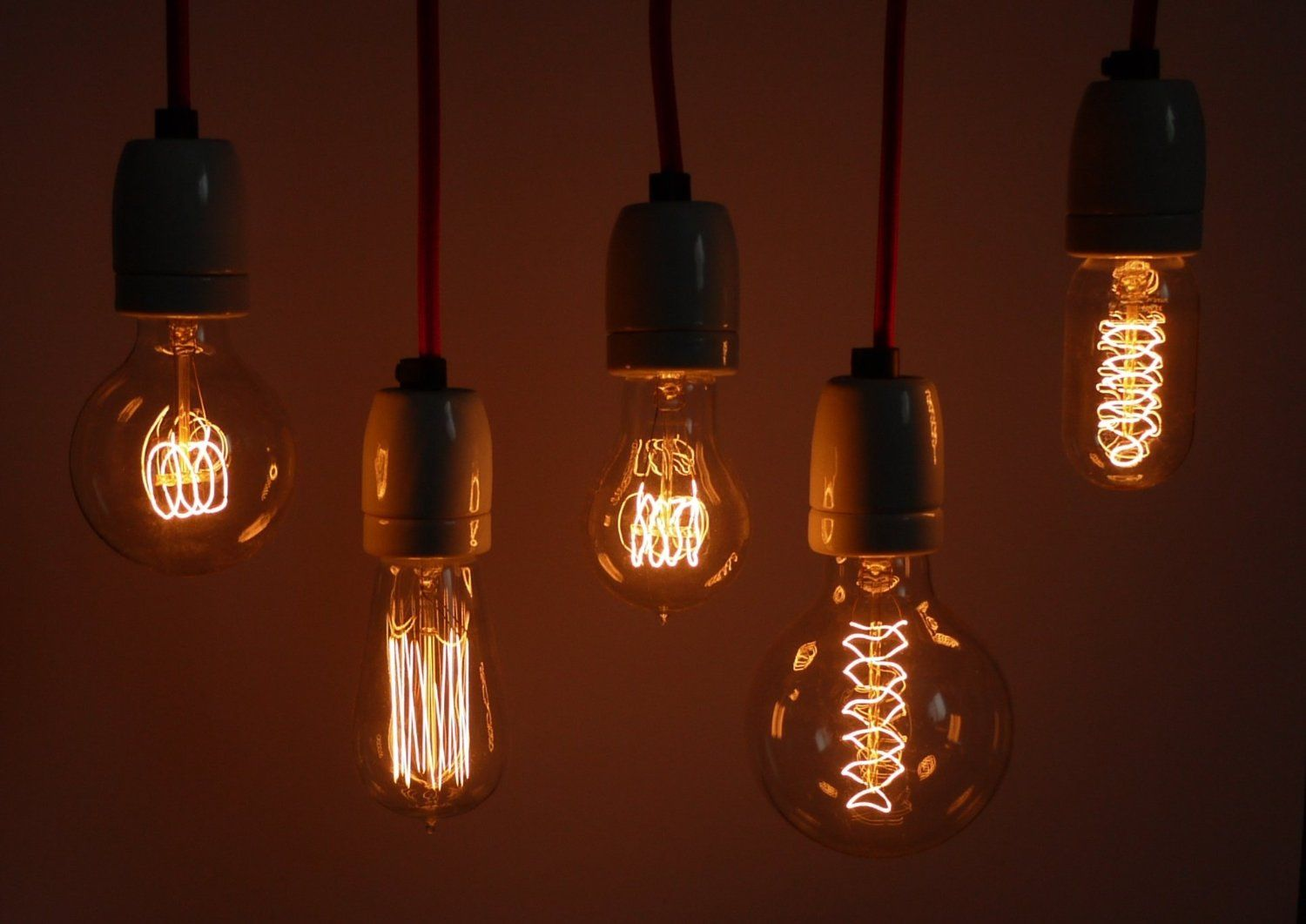Image of: Vintage Filament Light Bulbs