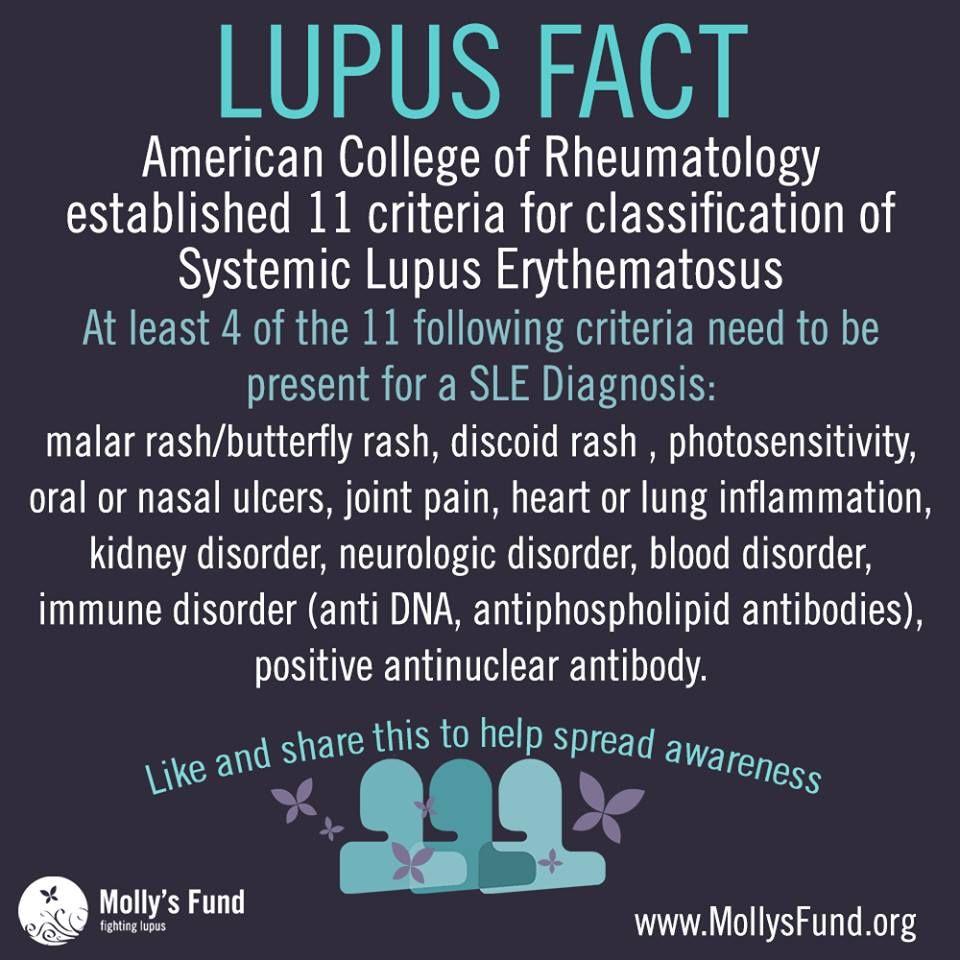 Lupus Fact 11 Criteria For Classification Of Sle Malar Rash