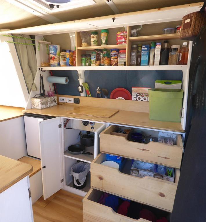 Diy camper van diy camper vans and internet for Camper van kitchen units
