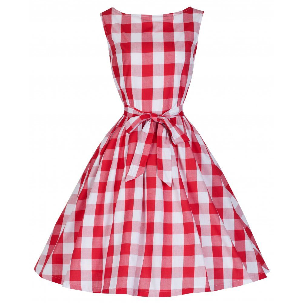 Audrey Check Swing Party Dress | Vintage Inspired Fashion - Lindy ...