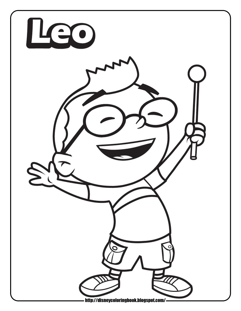 Come Join The Fun And Color These Printable Coloring Sheets Of The Kids From Disney Junior S Little Einsteins Join Leo Annie Quincy A