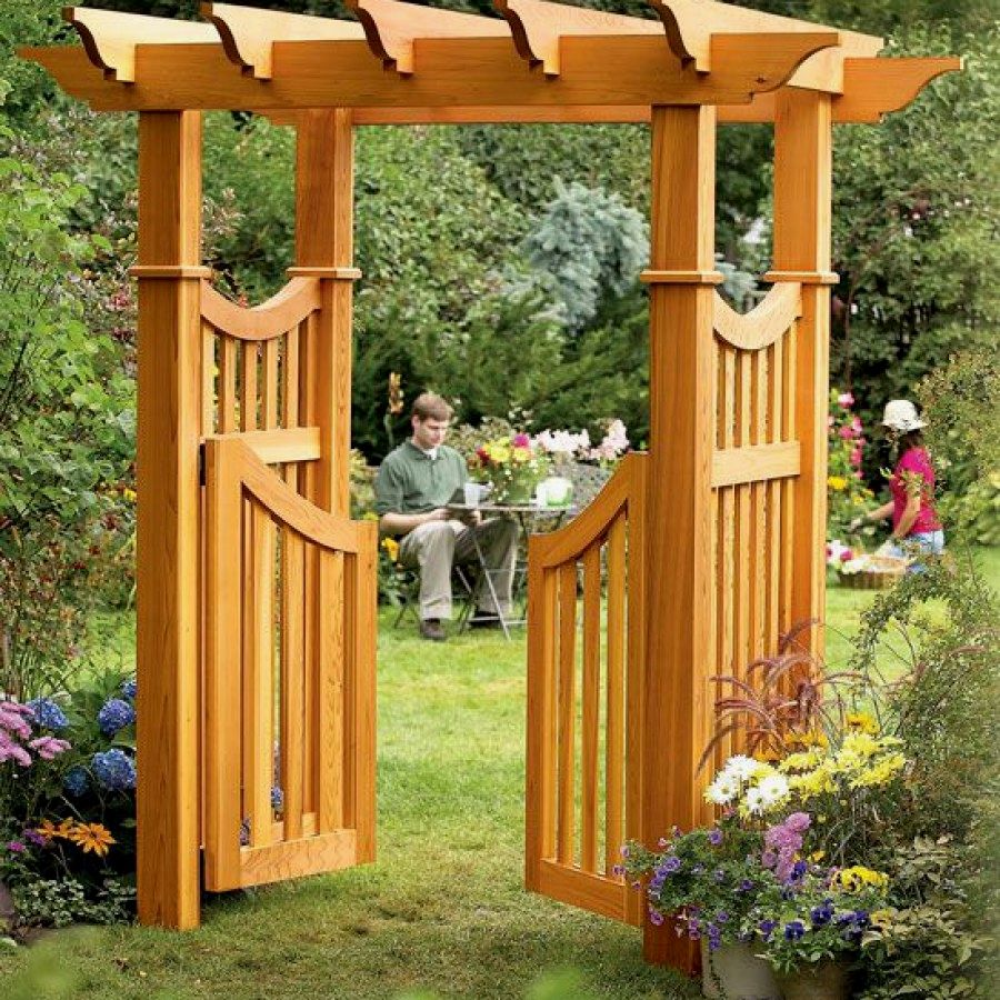 Easy Landscaping Ideas You Can Try: 12 Easy DIY Garden Arbor Designs You Can Create To