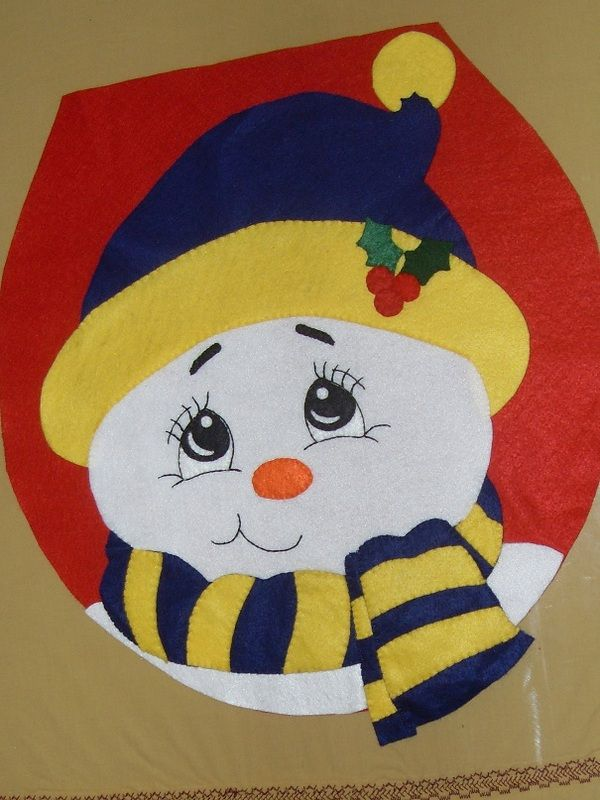 Set De Baño En Fieltro:Santa Claus De Fieltro