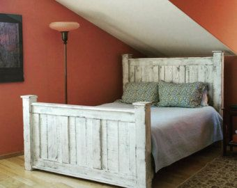Reclaimed Wood Bed Frame That Is Made Very Sturdy And Built To Last For Generations