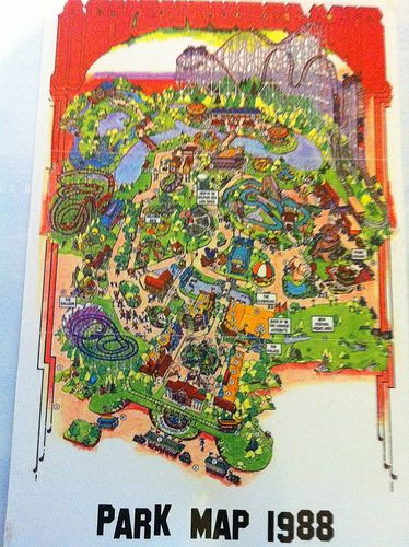 Postcrossing Us 1329404 Art Park Map Projects Map - Map-of-amusement-parks-in-the-us