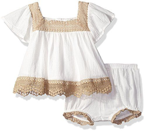 Jessica Simpson Baby Clothes Entrancing Jessica Simpson Baby Girls' Flutter Sleeve Dress Antiquewhite 24M Design Decoration