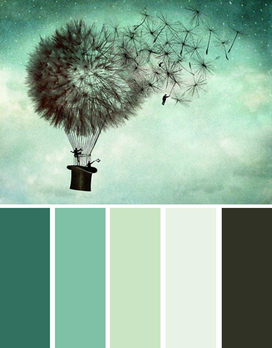 September 2012 kit dandelion stamp looooooove this color palette ooourrr house - Colores verdes azulados ...