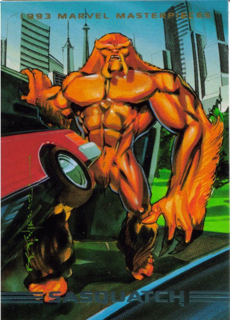Image detail for -066Sasquatch.jpg Marvel Masterpieces 1993 Series Card #066 Sasquatch