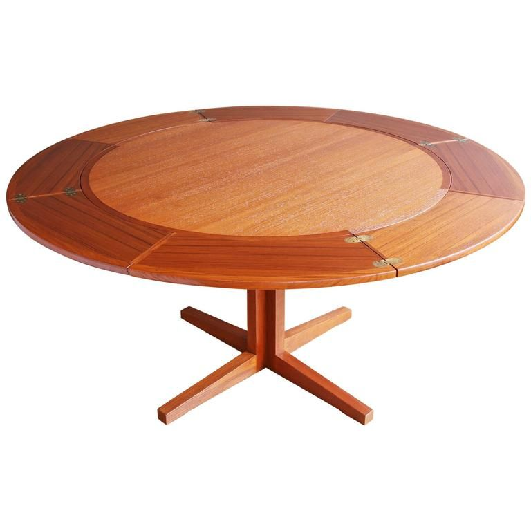 View This Item And Discover Similar Dining Room Tables For Sale At 1stdibs A Cleverly Designed Teak Lotus Or Dining Table Wooden Dining Tables Teak Table